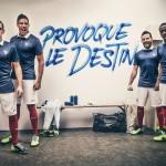 Домашний комплект формы сборной Франции 2014.