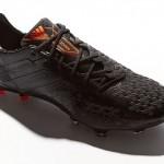 Полностью черные Adidas Black/Zest Predator LZ