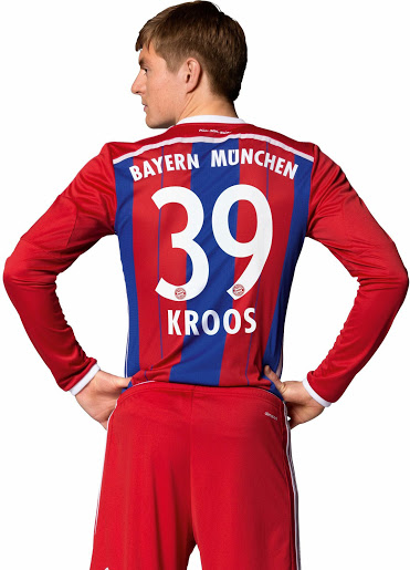 FC Bayern Munich 14-15 Home Kit Kroos (1)