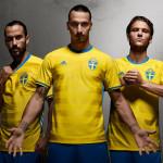 Домашняя форма сборной Швеции 2016