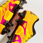 Оранжево-желтые Adidas X15+ PrimeKnit
