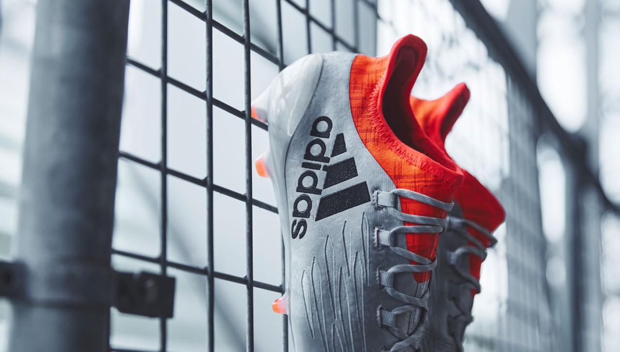 Бутсы Adidas X 16.1 metallic black solar red e5aa62989a0